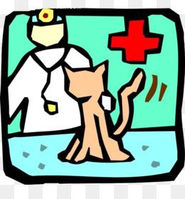260x280 Dog Cat Physician Veterinarian Illustration