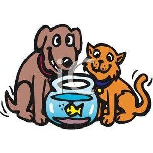 300x300 Cat Clip Art Free Cat, Dog And Goldfish Friends