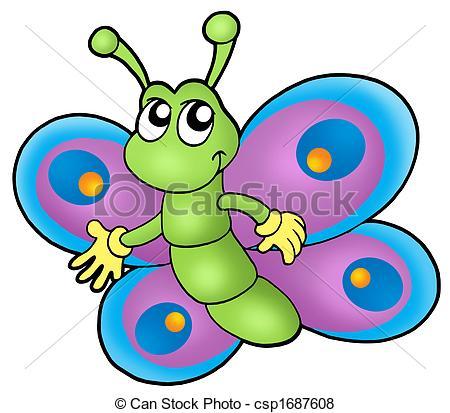 450x413 Cartoon Butterfly Clipart