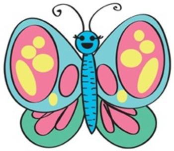 350x305 Caterpillar, Butterflies And Flowers Clip Art Set By Christine M