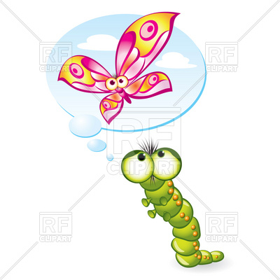 400x400 Caterpillar Wants To Become A Butterfly Vector Image Vector