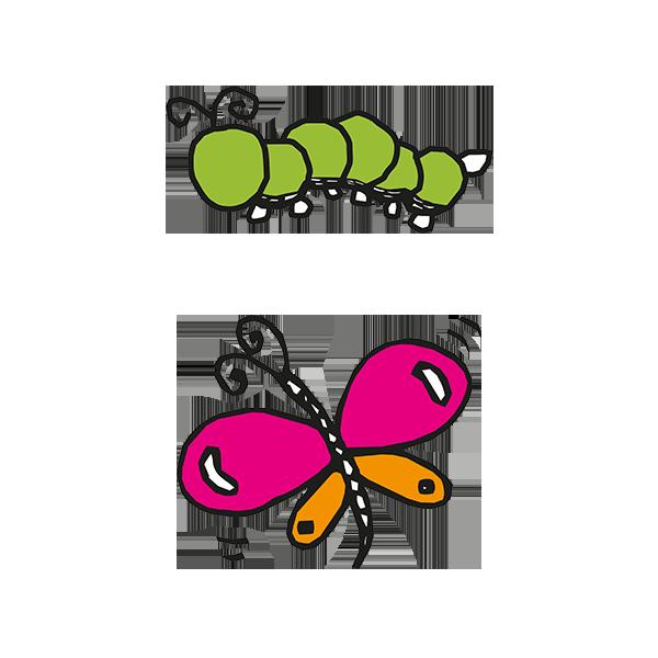 600x600 Caterpillars And Butterflies