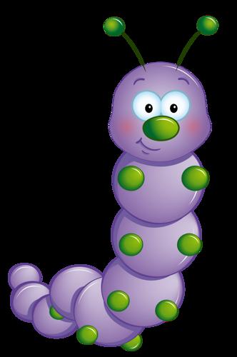 332x500 Purple Caterpillar Clip Art