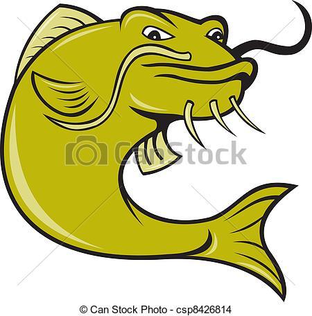 450x456 Catfish Cartoon Angry Cartoon Catfish Fish Illustration Of Angry