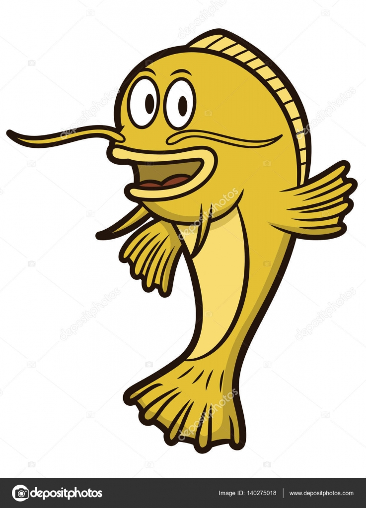 737x1024 Catfish Cartoon Catfish Cartoon Illustration Isolated On White