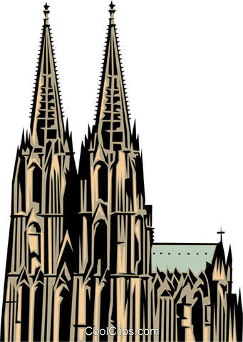 341x480 Cologne Church Royalty Free Vector Clip Art Illustration Arch0145