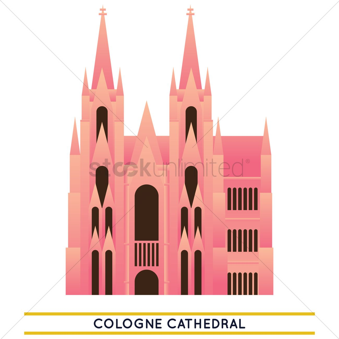 1300x1300 Cologne Cathedral Vector Image
