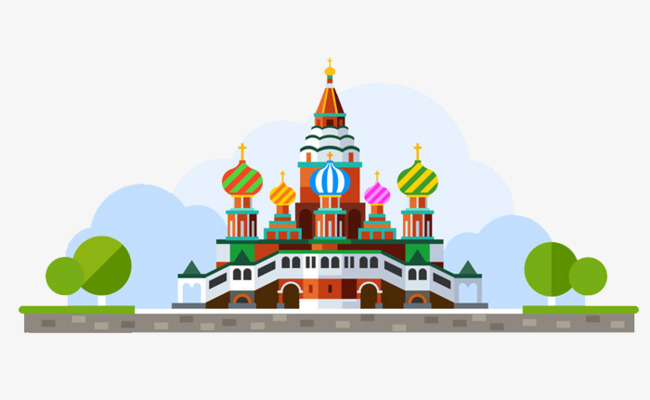 650x400 Cartoon Cathedral, Church, Hand Painted, Cartoon Png Image