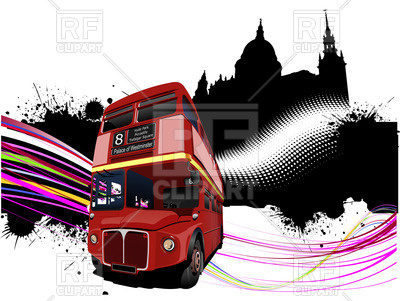 400x301 Silhouette Of St Paul's Cathedral In London And Double Decker Bus