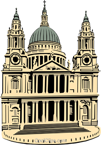 333x480 St. Paul's Cathedral Royalty Free Vector Clip Art Illustration