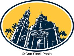 256x194 Cathedral Basilica Clipart Vector Graphics. 916 Cathedral Basilica