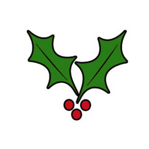 300x300 Clip Art Holly Leaves Clipart Free Clipart Christmas Holly Leaves