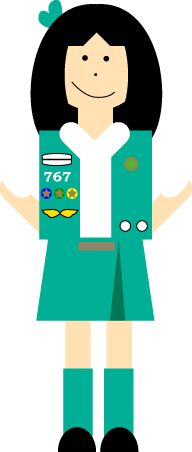 192x452 38 Best Girl Scout Clipart Images On Brownie Girl