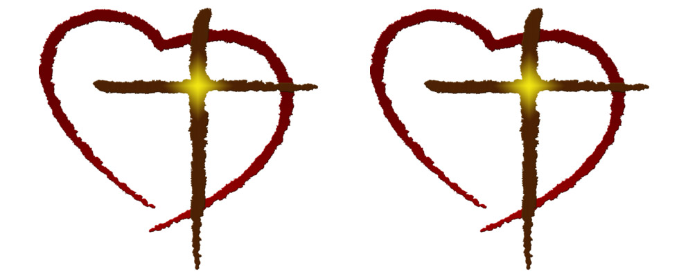 980x393 Collection Of Heart With Cross Inside Clipart High Quality