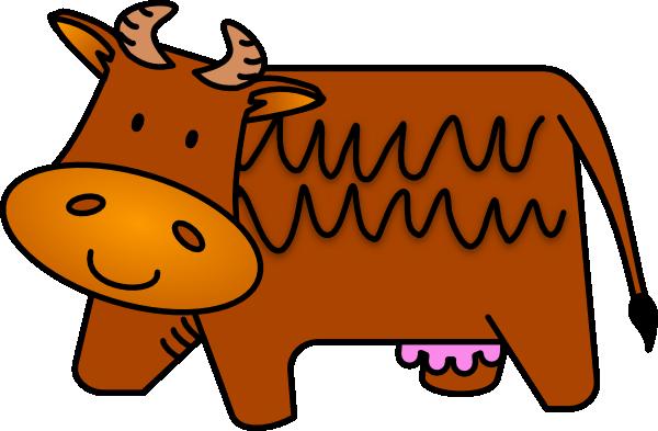 600x393 Brown Cow Clip Art
