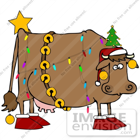 450x450 Cattle Clipart Christmas