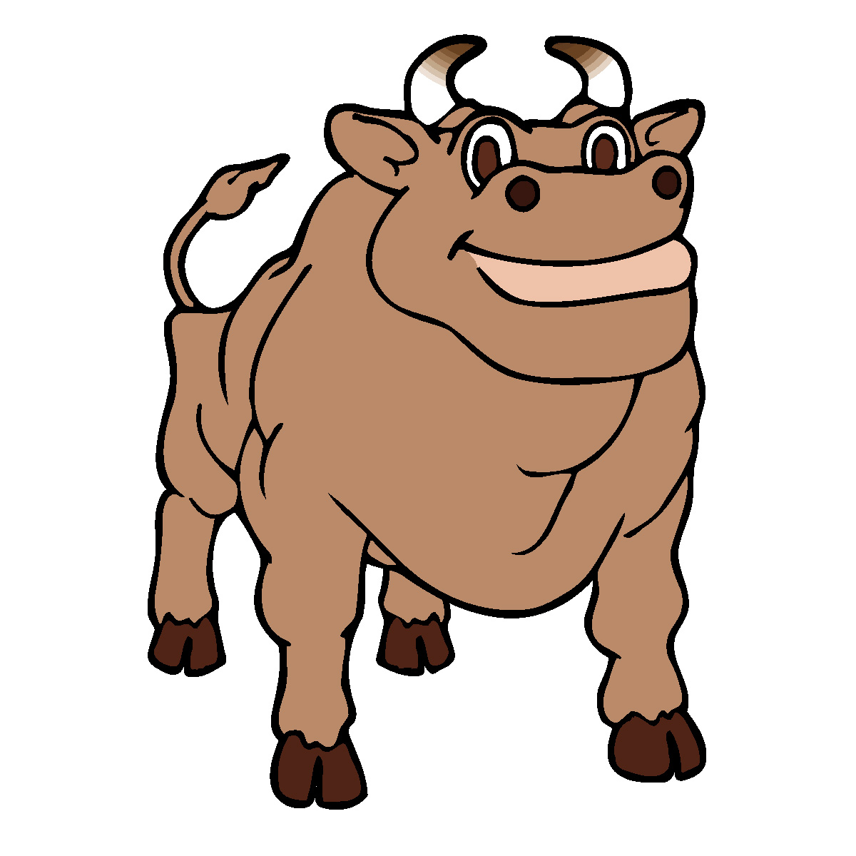 1200x1200 Cow Clipart Bw