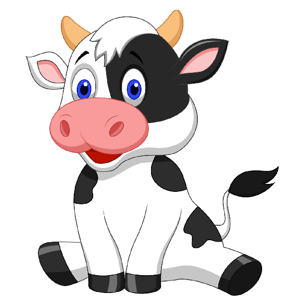 600x600 Funny Farmyard Cows Clip Art Images Are On A Transparent