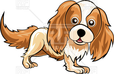 400x260 Spaniel Standing In Cartoon Style Royalty Free Vector Clip Art