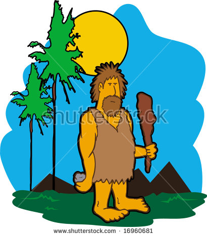 410x470 Cave Dwellers Clipart