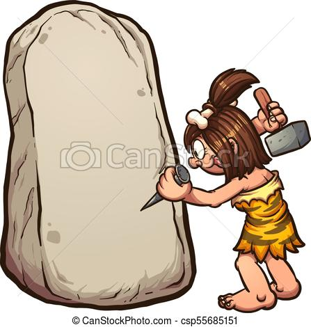 447x470 Cartoon Cave Woman. Cartoon Cavewoman Writing On Stone . Clipart