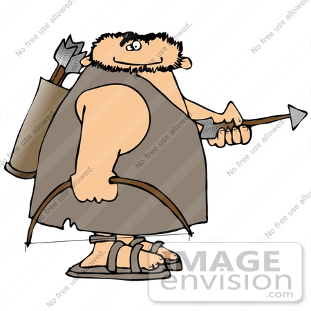 450x450 Caveman With A Bow And Arrows Clipart