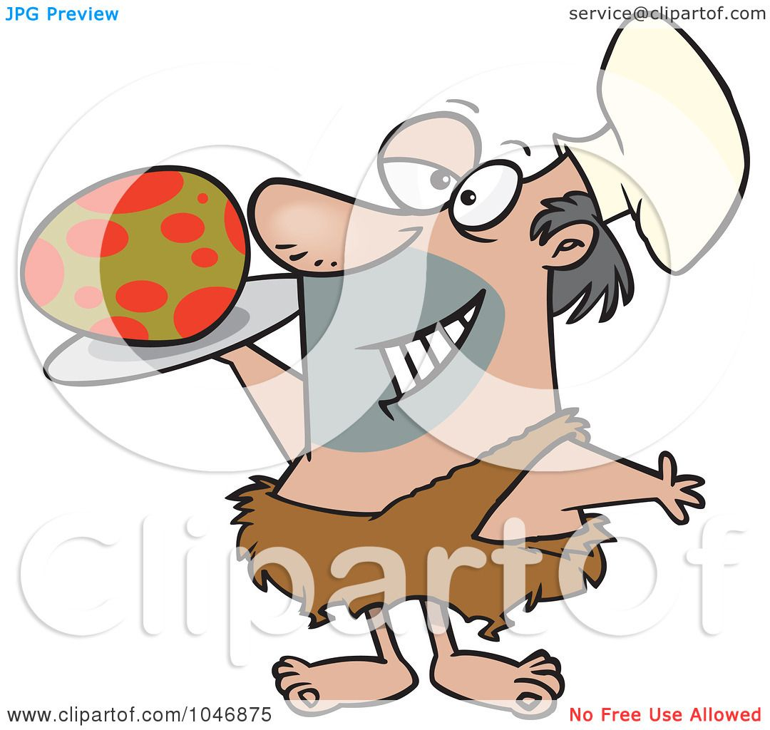 1080x1024 Royalty Free (Rf) Clip Art Illustration Of A Cartoon Caveman Chef