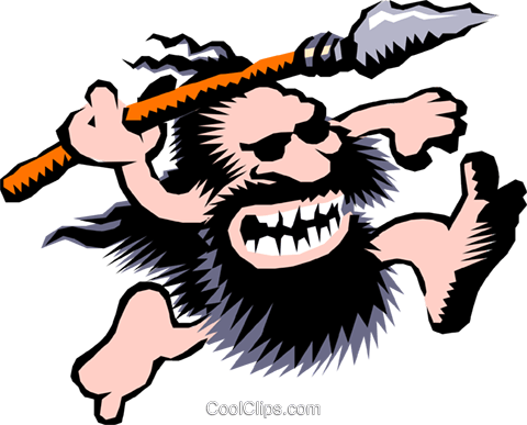 480x387 Cartoon Cavemen Royalty Free Vector Clip Art Illustration