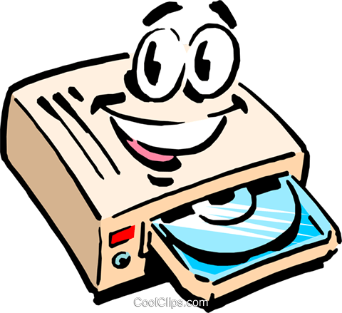 480x439 Cartoon Cd Rom Drive Royalty Free Vector Clip Art Illustration