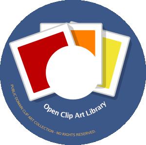 300x299 Cd Label Open Clipart Clip Art