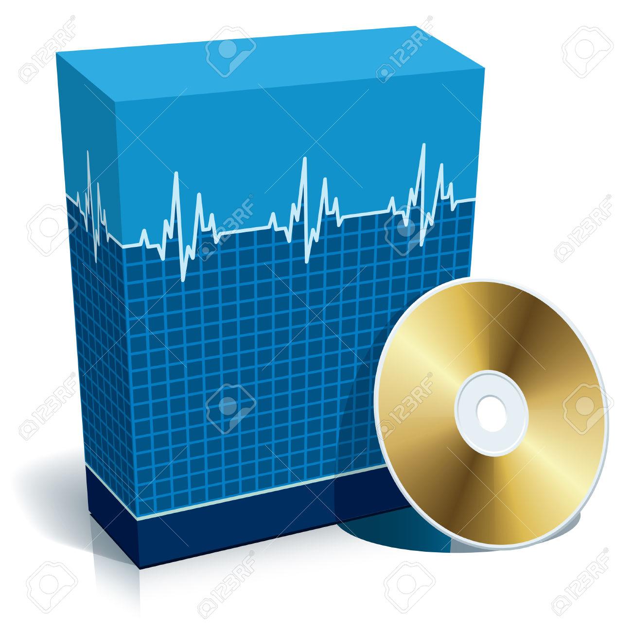 1300x1300 Software Clipart Cd Box