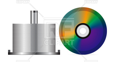 400x218 Stack Of Blank Cds Royalty Free Vector Clip Art Image