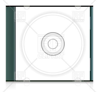 400x372 Blank Cd Box Royalty Free Vector Clip Art Image