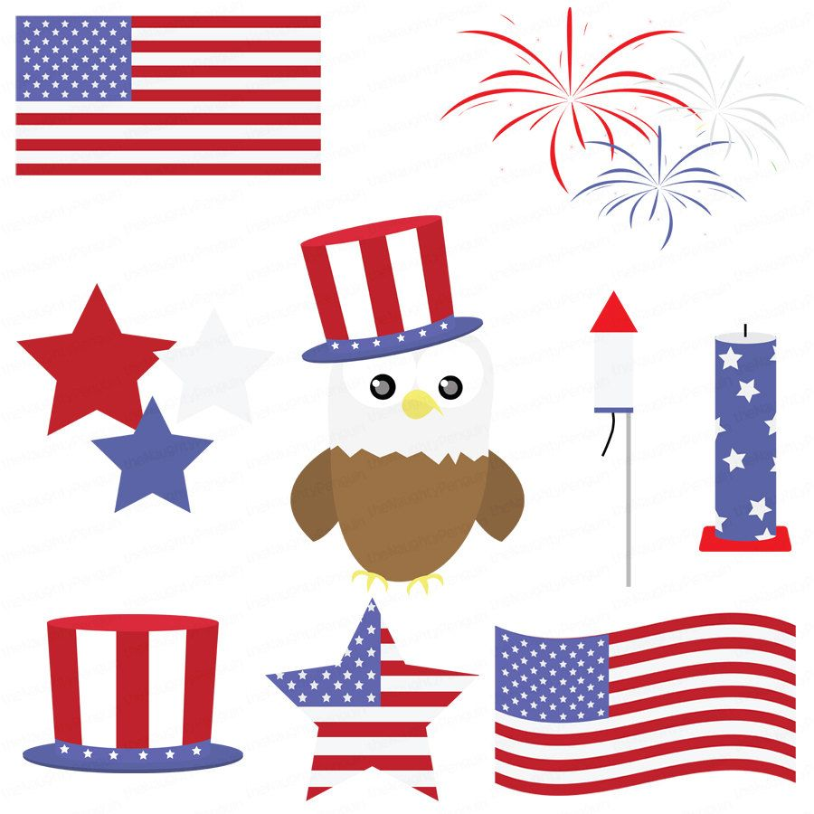 900x900 Fourth Clip Art Fourth Of July Celebration Clipart Package By