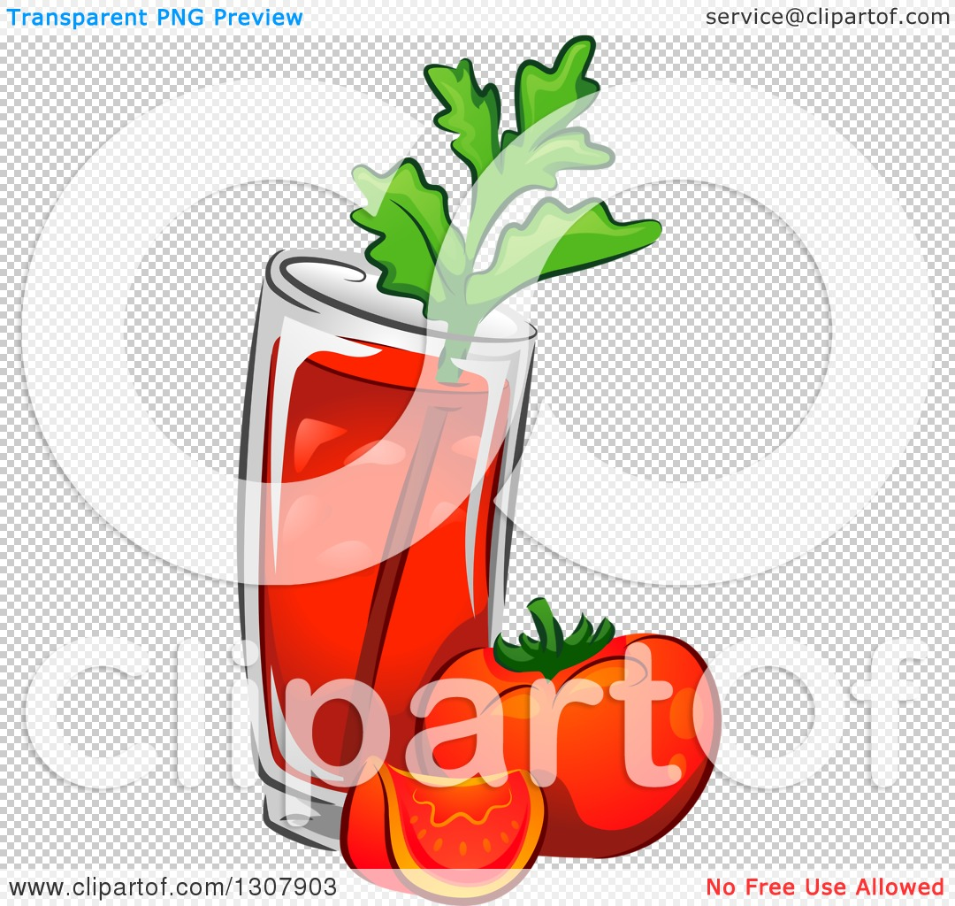 1080x1024 Clipart Of A Bloody Mary Drink With Tomatoes And Celery