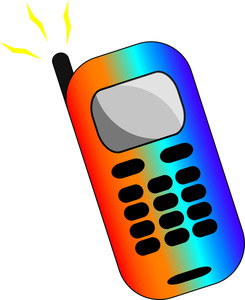 245x300 Free Clip Art Phone Boy Looking
