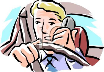 350x241 Royalty Free Clip Art Image Unsafe Driving Talking On A Cell Phone