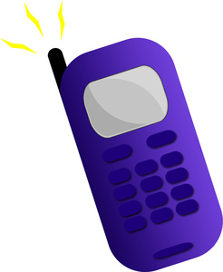 246x300 Cellular Telephone Clipart Image