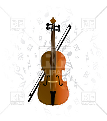 356x400 Violoncello On Music Note Background Royalty Free Vector Clip Art