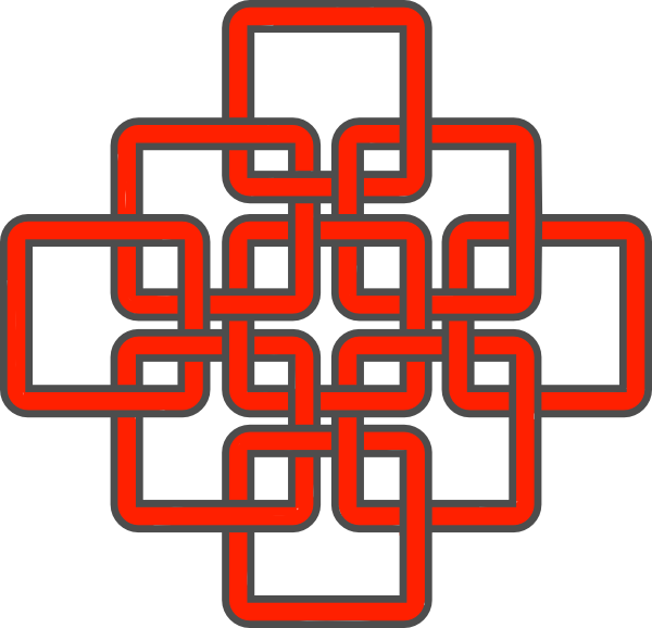 600x578 Celtic Knot Red Clip Art