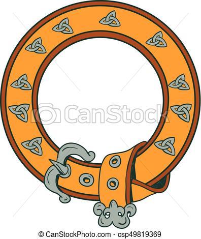 396x470 Celtic Belt Knotwork Drawing. Illustration Of A Celtic Belt