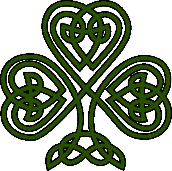 600x597 Free Irish Fonts Celtic Shamrock Clip Art