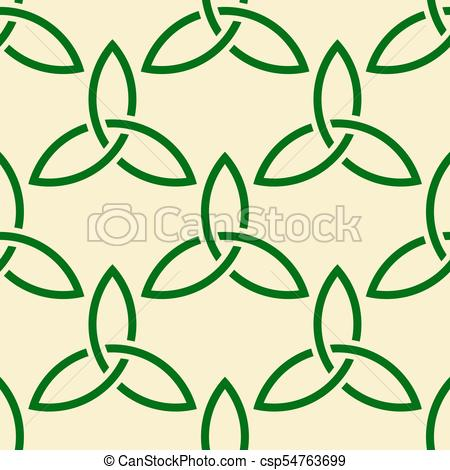 450x470 Green Celtic Style Seamless Pattern. Traditional Green Eps