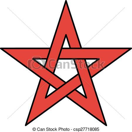 450x448 5 Point Celtic Star Knot (Pentagram) Vector Illustration Vector
