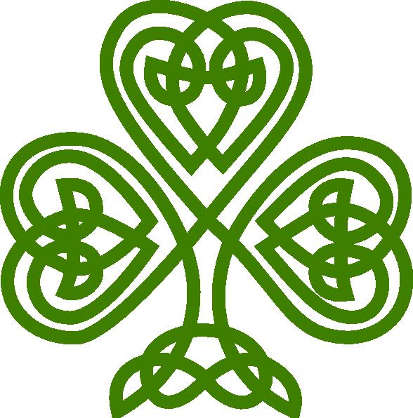 588x596 Irish Celtic Clover Art Celtic Shamrock Clip Art