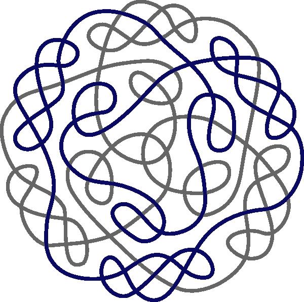 600x596 Navy Gray Celtic Knot Clip Art