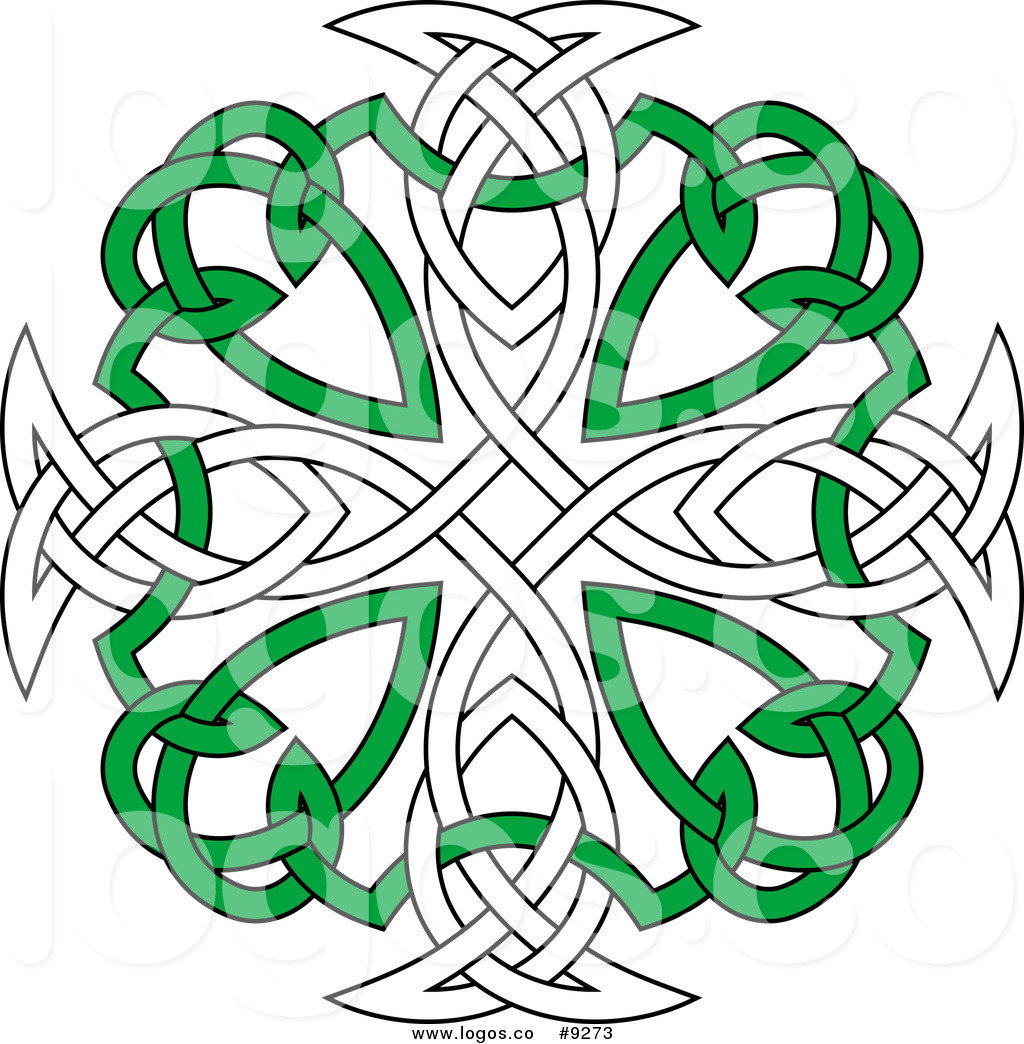 1024x1044 Royalty Free Clip Art Vector Green And White Celtic Knot Cross