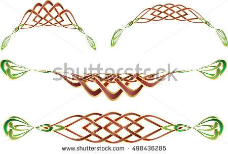 450x305 Celtic Knot Border Clip Art Stock Vector Celtic Knot Style Borders