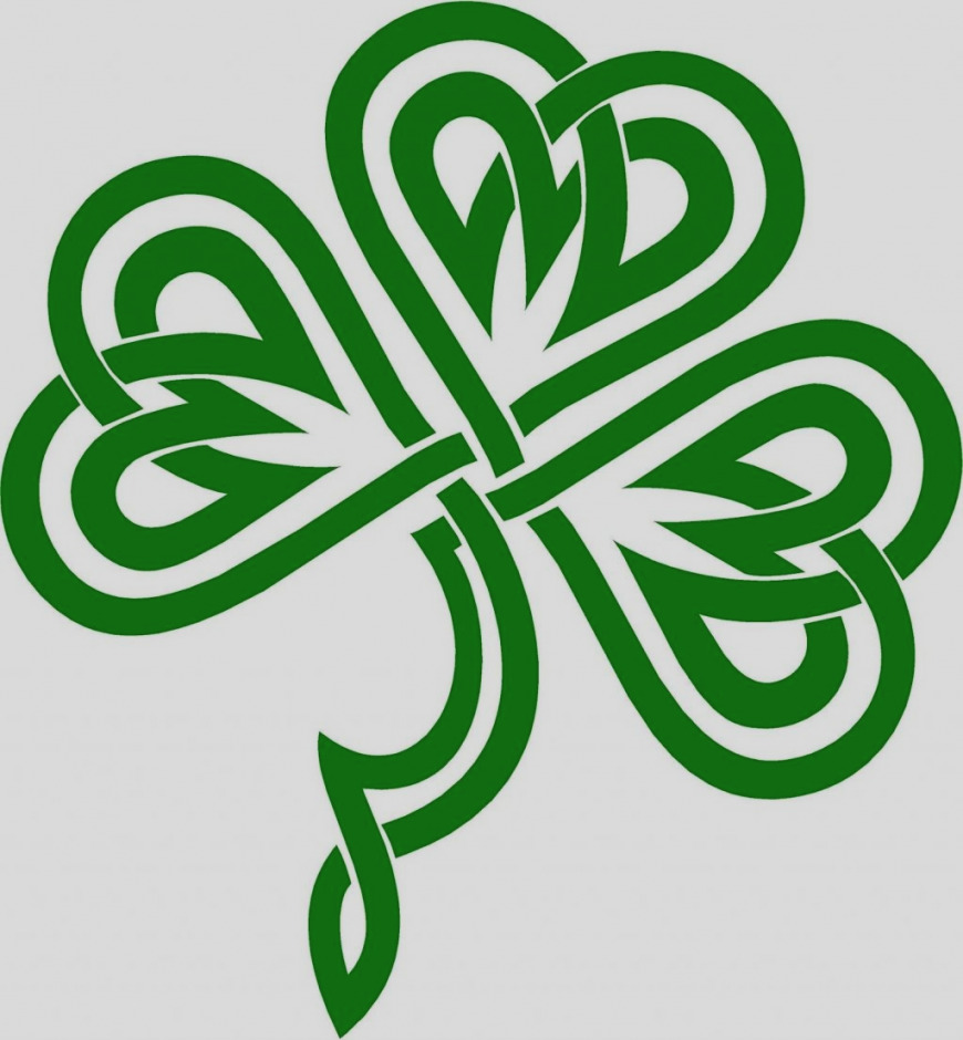 870x940 Amazing Of Celtic Clip Art Knot And Irish Shamrock Transparent Png