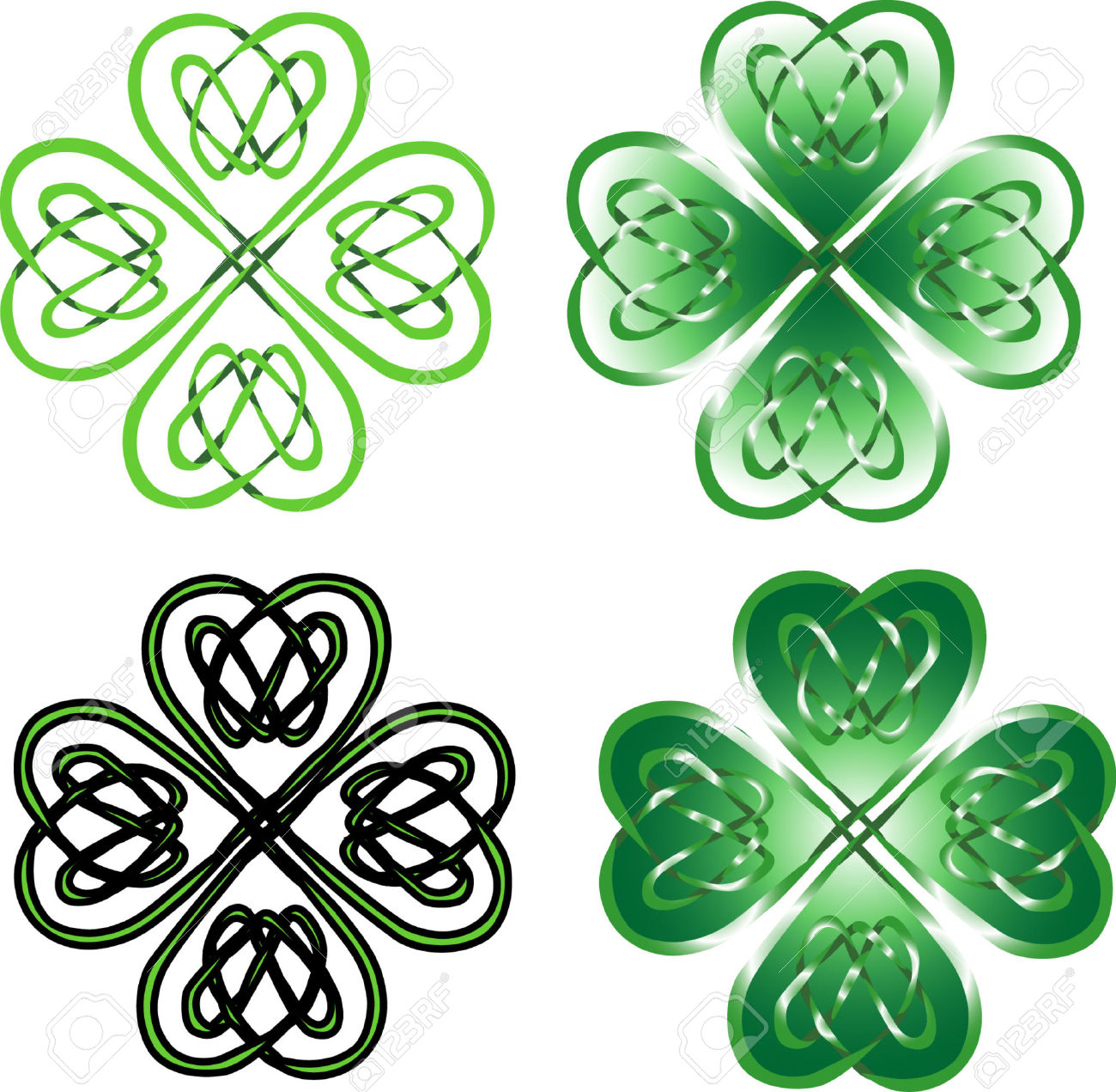 1300x1271 Celtic Knot Clipart Four Leaf Clover
